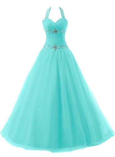ivyd ressing Mujer favorita Neck Holder con piedras Duchesse–de línea Prom vestido largo fijo para vestido de noche Saga