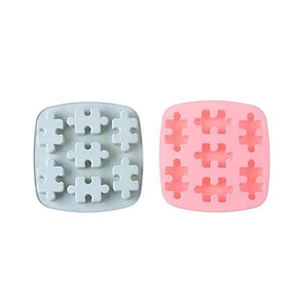 YZBear Confezione da 2 vaschette Ghiaccio in Silicone Lavabile in lavastoviglie Cassaforte per stampi per cubetti di… 1 spesavip