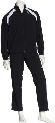 Wilson Men's Woven Performance Warm Ups,Black,Large
