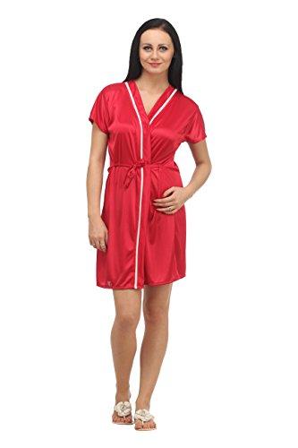Klamotten Women's Nightdress (XX04_Red_Free Size)