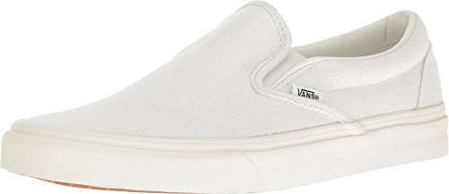- Vans Classic Slip On Hemp Linen Blanc de Blanc Sneakers (3.5 Mens/5 Womens, Blanc de blanc)