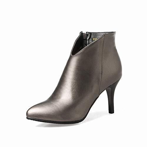 43 Pistola Zj Tacón Invierno Mujer 35 De Alto botas Zapatos Mujer Botas Aguja botas Color La pxS41p