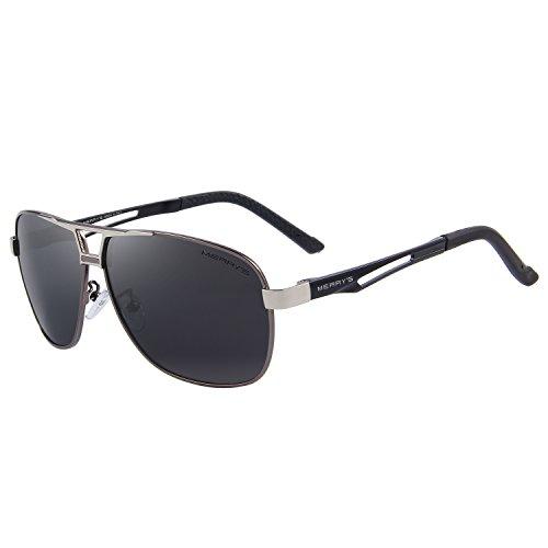 Sunglasses Men Rectangle Sun Glasses Grey Color Brand Design - 1