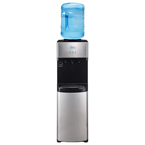 - Brio Limited Edition Top Loading Water Cooler Dispenser - Hot & Cold Water, Child Safety Lock, Holds 3 or 5 Gallon Bottles - UL/Energy Star Approved