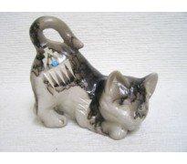 Native American Indian Navajo Horse Hair Pottery Cat