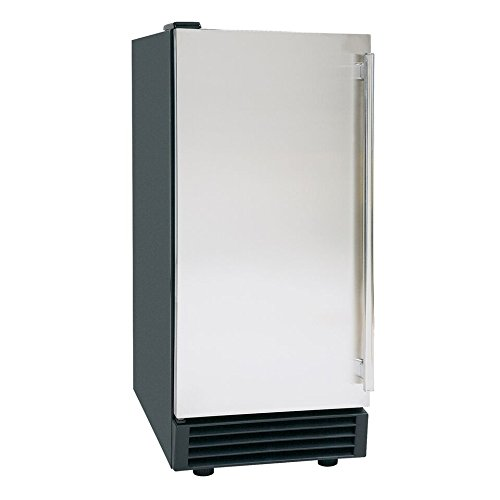 DUURA DI50 Stainless Steel 14-inch Undercounter Single Door Commercial Ice Maker with Air Cooled Compressor, 65 pounds, ()