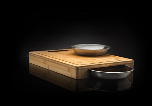 Napoleon Grills 70012 Commercial Cutting Board with Stainless Steel Bowls by Napoleon