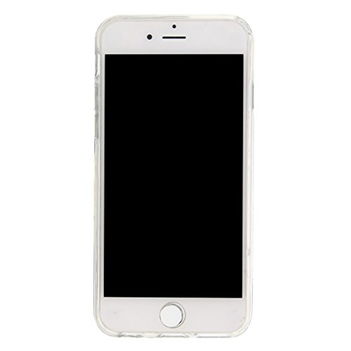 Trumpshop Smartphone Carcasa Funda Protección para Apple iPhone 5/5s/SE/5C + Dont Touch My Phone + TPU 3D Liquido Dinámica Sparkle Estrellas Quicksand Resistente a arañazos Caja Protectora A Pretty Dream