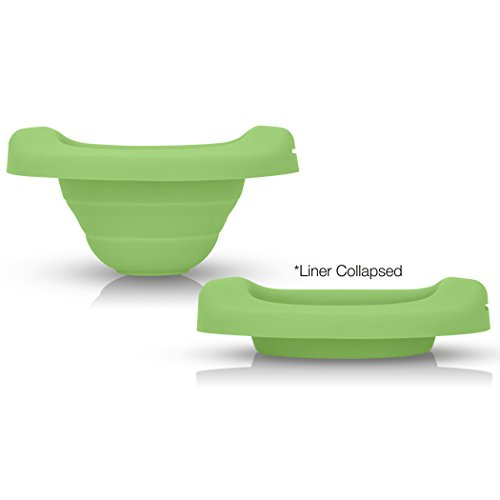 Reusable Collapsible Travel Potty Liner : Kalencom Potette Plus Potty Liner for Home Use with The 2-in-1 Potette Plus Potty (Sold Separately) (Green)