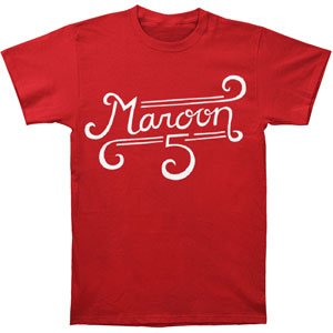 Maroon 5 Curl Logo Slim Fit T-shirt