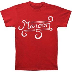 Maroon 5 Merchandise (Maroon 5 Curl Logo Slim Fit T-shirt Large)