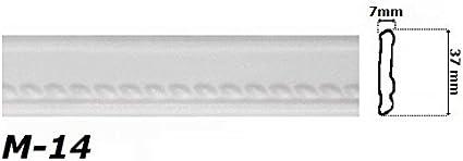 10 Meter Eckprofil M-14 Polystyrolleiste Hexim Deckenleiste 37x7mm
