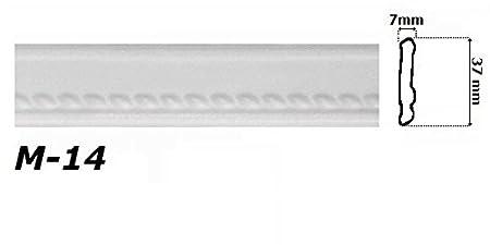 M-23 50 Meter Eckprofile Styroporleisten Deckenleisten Dekor Stuck 47x88mm