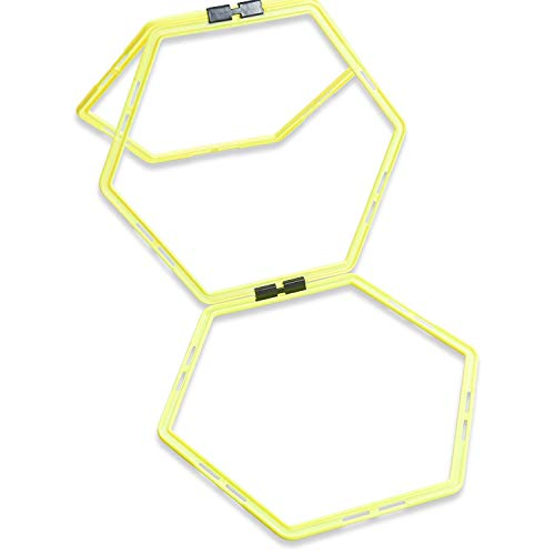 Unlimited Potential Hexagonal Speed & Agility Training Rings Tennis Soccer Football Basketball Training Aid With Carrying Bag