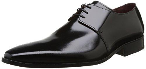 Pierre Cardin Nura - Zapatos de Cordones de cuero hombre negro - Noir (Antik Noir)