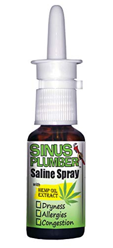 Sinus Plumber Saline Nasal Spray with Hemp Oil Extract - Allergy Sinus Relief