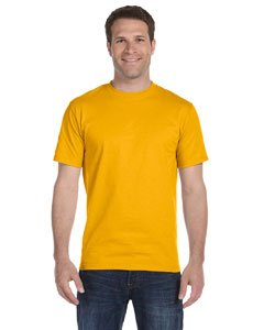 Gold T-shirt (Gildan mens DryBlend 5.6 oz. 50/50 T-Shirt(G800)-GOLD-XL)