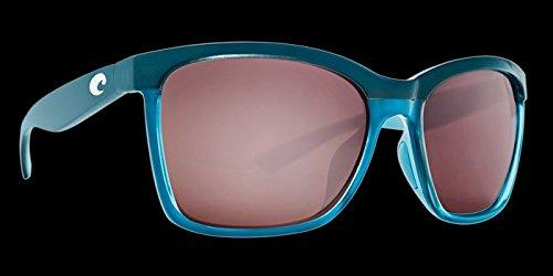 Costa Del Mar Anaa Sunglasses Sea Glass Ocearch Copper Silver Mirror ()