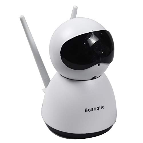 Basoqiia WiFi IP Camera 1080P Wireless Security Camera Indoor Home IP Camera Support 2.4G WiFi Baby Pet Monitor Indoor Dome Camera with Night Vision, 2-Way Audio