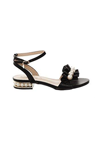 Noir Femmes Gigli Rg202 Sandales Avec Perles Synthétique Romeo x7fnwBq4B