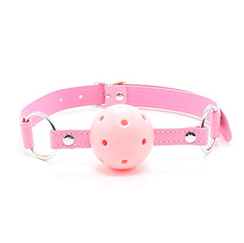 Funny Sexy Pink Hollow Ball Bundled Gags Mouth Plug Role Play Hallowmas Costume Masquerade Party Female Appliance