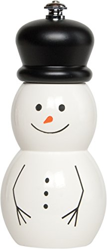 (Fletchers' Mill SNO06PM21-BH Snowman Pepper Mill 6-inch White)