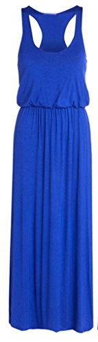 Women's Plus Size Toga Long Vest Maxi Puff Ball Balloon Ladies Dress (Small/Medium, Royal Blue) (Toga For Women)
