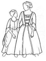 [Girls 18th Century Gown Pattern] (Colonial Girl Costumes Pattern)