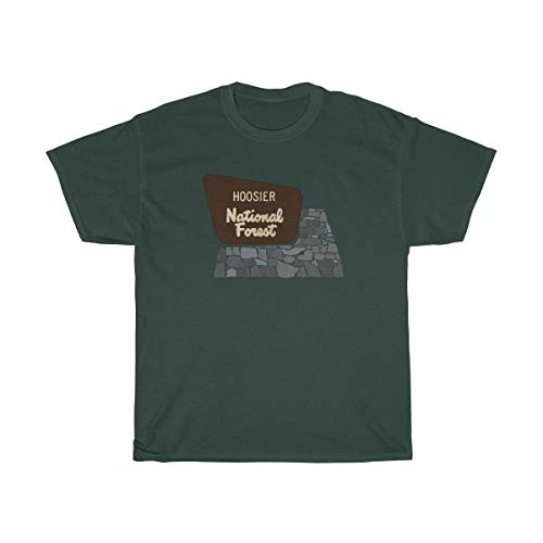 Hoosier National Forest Entrance Road Sign Unisex T-Shirt - in Camping Hiking Hunting Fishing Tee