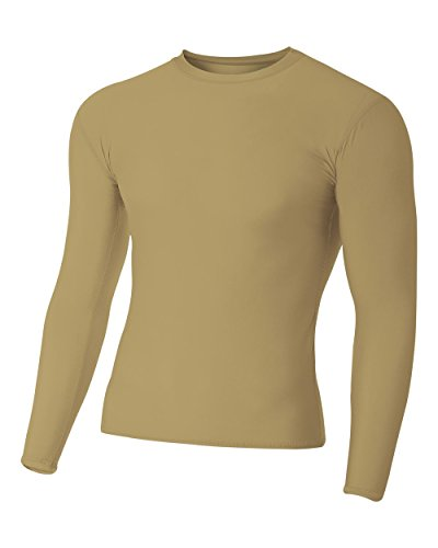 Vegas Gold Adult Small Long Sleeve High Performance Compression Moisture Wicking - S Vegas Las