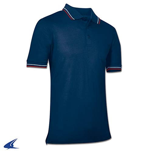CHAMPRO Umpire Polo Shirt; Adult Navy, Large