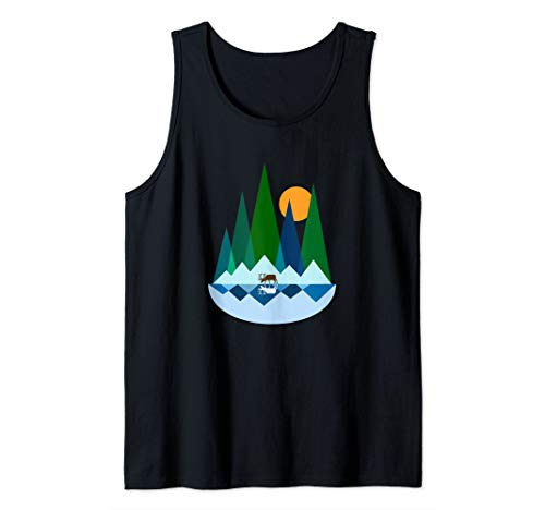 Deer of the Mountain Lake - Unique and Beautiful Design Tank - Mountain Deer