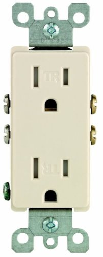 (Leviton S04-T5325-00T Light Almond 15 Amp Decora Tamper Resistant)