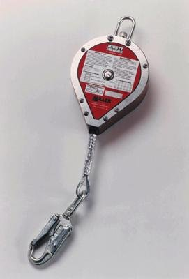 Miller(R) Mightylite 50' Retractable Lifeline Of 1'' Galvanized Steel With Carabiner & Tag Line by Honeywell