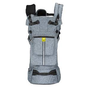 L LL baby Pursuit Pro SIX-Position Customizable Baby Child Carrier with Lumbar Support, Heathered Grey