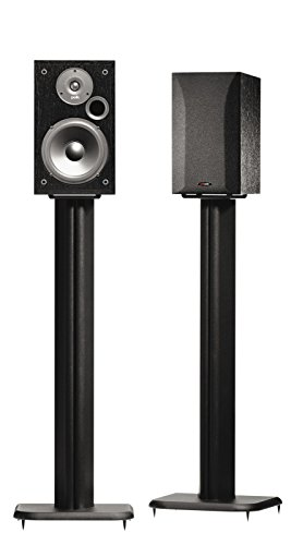 "SANUS BF31-B1 31"" Speaker Stands for Bookshelf Speakers up to 20 lbs - Black - Set of 2"