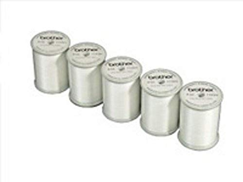 Brother  SAEBT Embroidery Thread, White (Pack of 5)