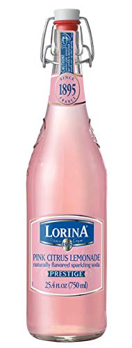 Lorina Sparkling Soda Water Pink Lemonade Flavor (25.4oz) Naturally Flavored Carbonated Soda Water, Artisan Crafted, Gluten-Free Beverage - No Artificial Colors or Flavors (On-the-go Size)