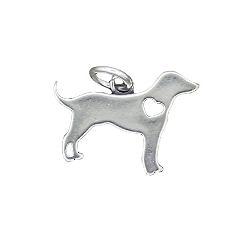 Cut Out Heart Charm (Sterling Silver Heart Cut Out Dog Charm)
