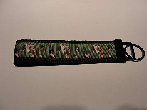 (Australian Shepherd Key fob Strap or Key - Purse or Wallet Strap)
