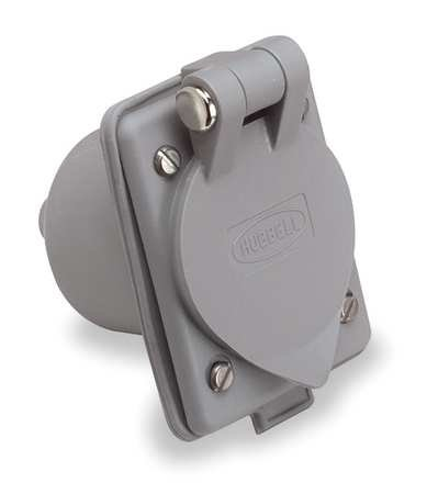 (Flanged Inlet Receptacle, 15A, 5-15P, 125V)