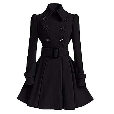 Coats For Women On Sale, Clearance!! Farjing Women Winter Sale Woolen Warm Coat Trench Parka Jacket Overcoat Outwear