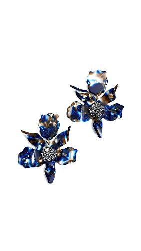 Lele Sadoughi Women's Crystal Lily Earrings, Night Streak, One Size
