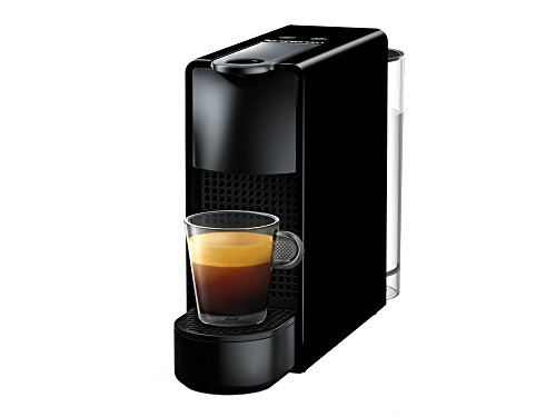 Cafetera Nespresso Essenza Mini, Color Negra (Incluye obsequio de 14 cápsulas de café)