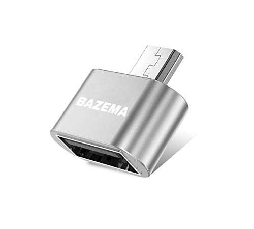 BAZEMA Micro USB Adapter Fast and Durable for Cell Phones and Tablets (Aluminum Gray)
