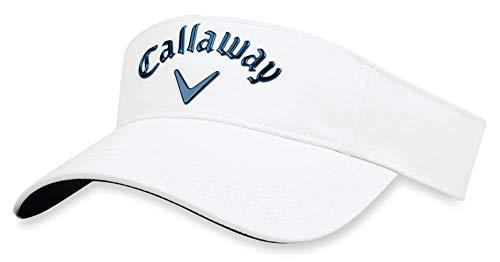 Callaway Golf 2018 Liquid Metal Adjustable Visor, Adjustable, White/ Navy
