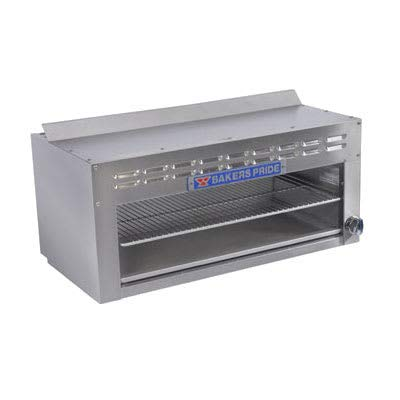 Bakers Pride BPCM-48 48 inch Gas Cheese Melter w/Infrared Element, Stainless, LP
