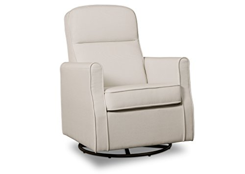 Delta-Children-Blair-Slim-Nursery-Glider-Swivel-Rocker-Chair-Cream
