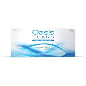 Oasis TEARS Lubricant Eye Drops, One 30 Count Box Sterile Disposable Containers, 0.3ml/0.01 fl oz