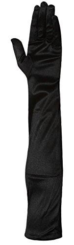 """23"""" Satin Formal Evening Opera Gloves Black"""